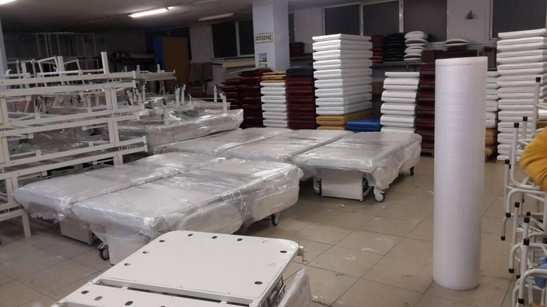 Hasta karyolası imalat süreci