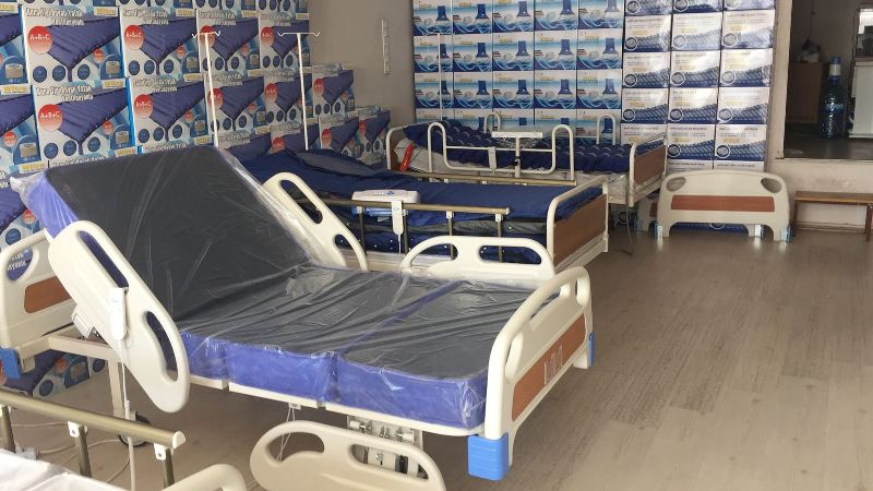 Kullanımı kolay hasta yatakları